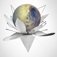 Planet in bloom on Behance Graph Design, Out Of This World, Painting Inspiration, Surrealism, Artworks, Cool Designs, Digital Art, Illustration Art, Geek Stuff