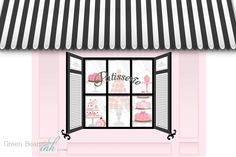 French+Patisserie+Printable+Party+Backdrop+Pink+by+GreenBeansieInk,+$15.00