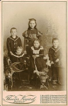 Antique Photo Album: Siblings