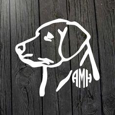 Labrador monogram decal Labrador decal Lab decal by MarylandCorvus