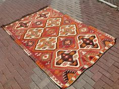 7'11 X 5'4 Vintage Turkish rug rugs area rug rug by PocoVintage