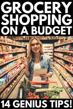 Grocery shopping on a budget is no easy task. Whether you're shopping for one or for two (or for 3, for 4, for 5, or even for 6!), there are things you can do so you don't blow your monthly food budget in one trip to the grocery store. From creating a killer grocery list and learning the art of meal planning, to other money-saving tips that will save you time, energy, and money, we've got 14 secrets to help you learn how to eat healthy on a budget. #groceryshopping #mealplanning #cleaneating