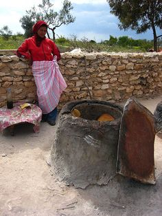 Baking bread, Tunisia