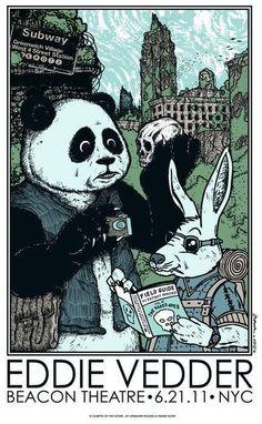 Frank Kozik, Eddie Vedder Rabbit & Panda