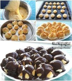 Profiterol Tarifi Profiteroles Recipe, Pasta Recipes, Cooking Recipes, Bakery Cakes, Turkish Recipes, Food Labels, Food And Drink, Favorite Recipes, Sweets