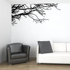 VINYL WALL DECAL STICKER ART TREE TOP BRANCHES DECOR