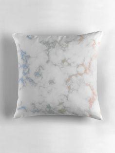 'Glassy White Marble' Throw Pillow by Rizwana Khan Purple Marble, White Marble, Color Marble, Marble Art, Original Art, Art Deco, Throw Pillows, Wall Art