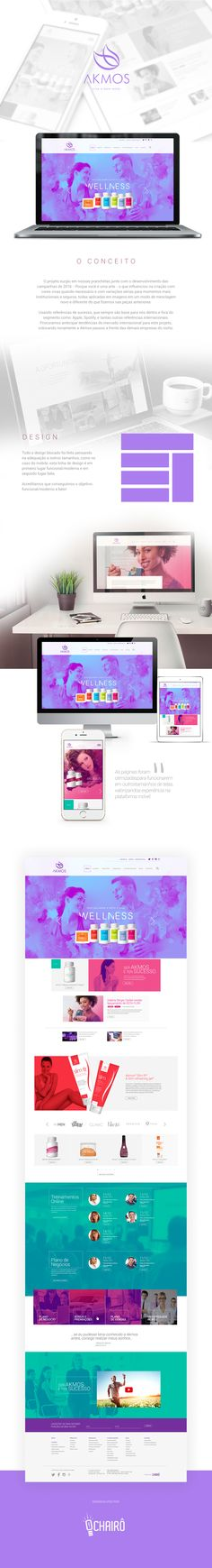 Conheça o novo site da Akmos! Um site administrável, com layout criativo da Agência Chairô, programado na plataforma Wordpress, responsivo (adaptado para os dispositivos móveis), com imagens expressivas que atraem os cliques dos visitantes.