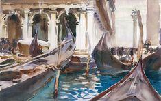 John Singer Sargent, The Piazzetta, Venice, 1904