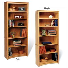 Upscale and versatile, the 6-shelf Bookcase is a great addition to your study, office or living room. Six shelves serve to organize and hold household items like books, picture frames, candles and more.