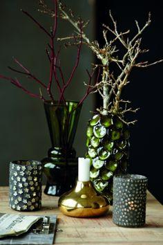 Dot vase house doctor lovely green color / Living Roots