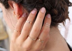 Help! I Have No Idea How to Stack My Rings~ thin stacked rings
