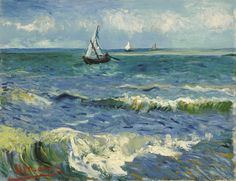 Vincent Van Gogh - Fishing Boats on the Beach at Saintes-Maries (1888)