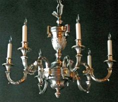Marvin Alexander,Inc. Regence Style silvered bronze six light chandelier. France, circa 1880.