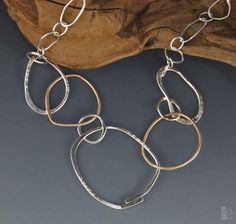 Linda Freedman Katz - Contempo Necklace - Argentium Silver & Bronze