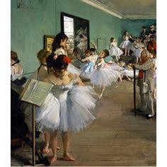 """Reprodukcja obrazu """"The Dance Class"""" Edgar Degas - dostępna w rozmiarze 80x70, 70x60, 60x50 i 40x30 cm #fedkolor #reprodukcje #obrazy #sztuka #art #DanceClass #Degas #Edgar #taniec #balet #nauka #tancerki #baletnice #obraznapłótnie #wydruki #napłótnie #dopokoju"""