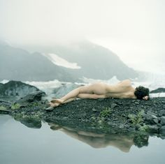 "asylum-art: "" Acacia Johnson her series 'Aialik', Acacia Johnson explores northern environments, wilderness, and the human relationship to nature. The images present a mysterious, ethereal world of. Acacia, Kenai Fjords, Magical Creatures, Nude Photography, Ethereal, Wonders Of The World, Wilderness, Mists, National Parks"