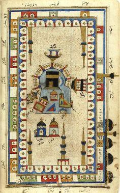 ༺✿༻Minyatür Sanatı ISLAMIC PRYER RUGKaaba-Kabe