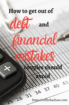 Get out of debt (and 3 financial mistakes couples should avoid at all costs!) - Coffee Before Chaos Ways To Save Money, Money Saving Tips, How To Make Money, Money Tips, Budgeting Finances, Budgeting Tips, Living Together Couples, Rainy Day Fund, Creating Wealth