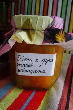 Dżemik dyniowy z gruszka i kulkami winogrona  #halloween #sweet #dynia