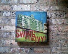 Wrigley Field Chicago Cubs baseball IVY art on by geministudio,