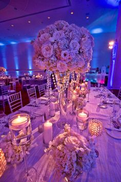 images of tall wedding centerpieces | Wedding centerpieces and decor.