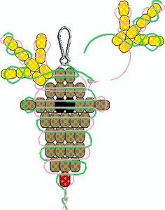 Christmas Ornaments You Can Make - Rudolph Pony Bead Pattern kralen action kralen kralen kopen Pony Bead Projects, Pony Bead Crafts, Beaded Crafts, Beaded Ornaments, Ornament Crafts, Beading Projects, Deer Ornament, Pony Bead Animals, Beaded Animals