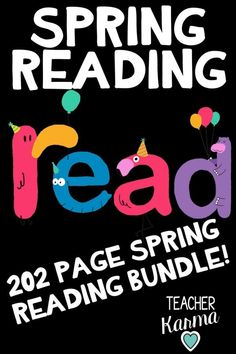 202 pages of Spring Reading Resources. This Spring reading bundle is perfect to use for Spring all the way to the end of the school year. Includes games, foldables, center activities, printables, writing prompts, organizers, hands-on activities, worksheets, and more! Perfect for #1stgrade #2ndgrade #3rdgrade and #4thgrade :). #teacherkarma #readingresources Reading Resources, Reading Activities, Reading Skills, Teaching Reading, Classroom Activities, Fourth Grade, Second Grade, Creative Teaching, Teaching Ideas