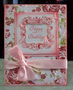 Handmade Birthday Card using Stampin Up Elementary Elegance - Free Shipping to US via Etsy