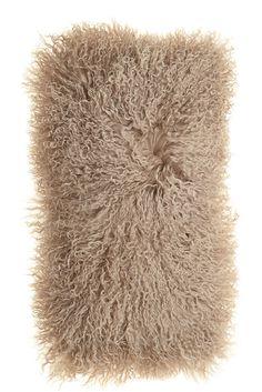 Long Tibetan Goat Pillow - taupe