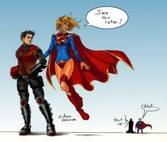 Jason Todd and Supergirl by AustinToya on DeviantArt Now this looks cute.
