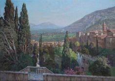 View of Tivoli from the terrace of Villa d'Este. 2013. oil on canvas. 60x85cm.