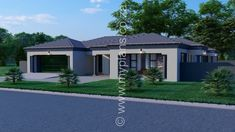 4 Bedroom House Plan – My Building Plans South Africa Tuscan House Plans, Metal House Plans, Open Floor House Plans, Porch House Plans, 4 Bedroom House Plans, Basement House Plans, Home Design Floor Plans, Bungalow House Plans, Family House Plans