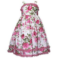 Laura Ashley Pink Rose Floral Toddler Dress