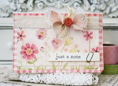Just A Note Card by Melissa Phillips for Papertrey Ink (March 2015)
