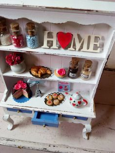 Shabby chic cabinet by ManthaCreaMiniatures on Etsy