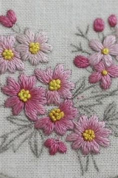 Marvelous Crewel Embroidery Long Short Soft Shading In Colors Ideas. Enchanting Crewel Embroidery Long Short Soft Shading In Colors Ideas. Herb Embroidery, Hand Embroidery Projects, Hand Embroidery Videos, Hand Embroidery Flowers, Hand Embroidery Tutorial, Embroidery Works, Hand Embroidery Stitches, Silk Ribbon Embroidery, Hand Embroidery Designs