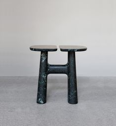 I have featured Guillaume Delvigne before but I am smitten with these simple shaped stools made from some amazing materials. Functional sculpture is what