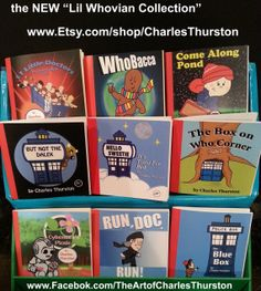 The Lil Whovian Collection by CharlesThurston on Etsy, $50.00