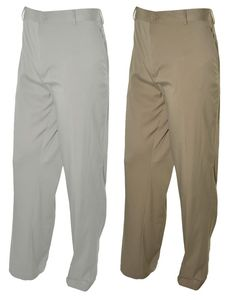 Nike Golf Mens Dri Fit Pants Stay Cool Flat Front 40 42 Lightweight Brown Gray #NikeGolf #CasualPants