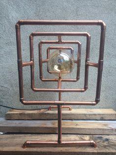 lampe tube tuyau cCopper par CopperLampCompany sur Etsy