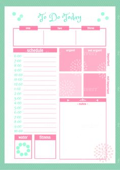 Cute Daily Planner Template Fresh 46 Of the Best Printable Daily Planner Templates Cute Daily Planner, To Do Planner, Planner Pages, Life Planner, Arc Planner, Daily Agenda, Goals Planner, Day Planner Template, Weekly Planner Printable