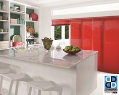 Blinds are a perfect way to create a feature in your kitchen. #decor #blinds #kitchen