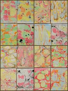 Mixed Media Blog Project - Paper Marbling Made Easy - Most of us love marbled papers and most of us would love to do them ourselves but then get intimidated by such mysterious ingredients like the often used Carragheen for example and by the obvious