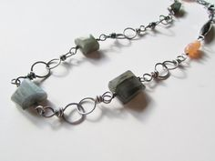 Labradorite and Peach Moonstone Sterling Silver by bellarose0417, $195.00