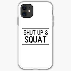 'Shut Up And Squat Weightlifting Workout Phrase' iPhone Case by Weight Lifting Motivation, Weight Lifting Workouts, Fitness Motivation, Fat Burning Cardio Workout, Belly Fat Workout, Shut Up And Squat, Body Building Men, Fat To Fit, Gym Humor