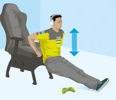 Mike spends a lot of time on the road (and a lot of time seated). To offset that sedentary lifestyle, he relies on this 4-minute workout.
