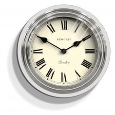 Newgate Clocks The Ocean Wall Clock Chrome