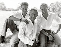 Relaxed moment: Prince Charles with William and Harry in a photograph taken by celebrated fashion photographer Mario Testino for their 2004 Christmas card