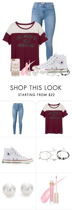 """messy buns & converse"" by nina4ever14 ❤ liked on Polyvore featuring 7 For All Mankind, Converse, Lipsy, Mikimoto, Stila and Casetify"